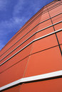 Orange modern facade Stock Photos