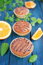 Orange muffins Royalty Free Stock Photos