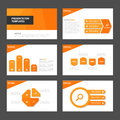 Orange Multipurpose Infographic elements and icon presentation template flat design set advertising marketing brochure flye Royalty Free Stock Photo