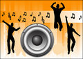 Orange Music Background Stock Photos