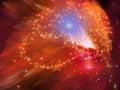 Orange Nebula Royalty Free Stock Photo