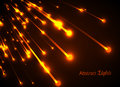 Orange neon light rays Royalty Free Stock Photo