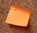 Orange note pad Royalty Free Stock Photography