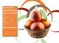 Orange nutrition facts creative design for with label Stock Photography
