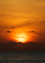 Orange ocean sunset beautiful outdoors Royalty Free Stock Image