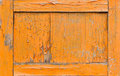 Orange old door Royalty Free Stock Photography