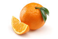Orange and Orange Slice Stock Images