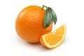 Orange and Orange Slice Royalty Free Stock Photos