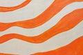 Orange paint stripes Royalty Free Stock Photo