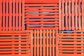 Orange pallets fence background Stock Photo