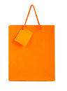 Orange paper bag isolated on white background Royalty Free Stock Photography