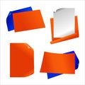 Orange paper sticker Royalty Free Stock Images