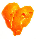 Orange Peel Heart Royalty Free Stock Photo