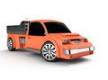 Orange pickup Royalty Free Stock Images