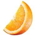 Orange. Piece of fruit isolated on white Royalty Free Stock Photo