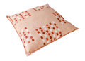 Orange pillow Stock Image