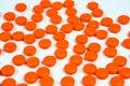 Orange Pills Background Royalty Free Stock Photo