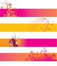 Orange and pink banners Stock Image