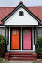 Orange and  pink doors Royalty Free Stock Photo