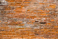 Orange pink old thin bricks work wall. Backgrounds full frame Royalty Free Stock Photo