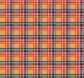 Orange plaid fabric Royalty Free Stock Image