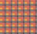 Orange plaid fabric Royalty Free Stock Image