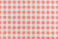 Orange plaid fabric a background texture of Stock Photography