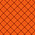 Orange plaid fabric background textured that is seamless and repeats Stock Photo