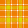 Orange plaid pattern for background Stock Image
