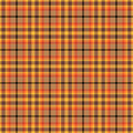 Orange plaid pattern an based seamless repeating Stock Photos