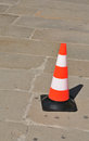 Orange plastic cone Stock Image