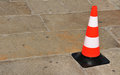 Orange plastic cone Stock Images