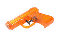 Orange plastic water pistol isolated on a white background Stock Photography