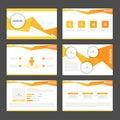 Orange polygon presentation templates Infographic elements flat design set for brochure flyer leaflet marketing Royalty Free Stock Photo