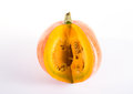 Orange pumpkin isolated on a white background Royalty Free Stock Photography