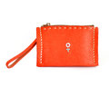 Orange purse Stock Image