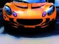 Orange Race Car Grunge