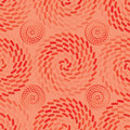 Orange ray roll semless pattern Royalty Free Stock Photo