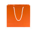 Orange recycle paper bag Stock Photos