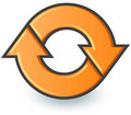 Orange recycle symbol Royalty Free Stock Photography