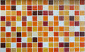 Orange and red glass tiles as background Stock Images