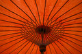 Orange red umbrella background Royalty Free Stock Photo