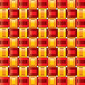 Orange red yellow gingham seamless patterns Royalty Free Stock Photos