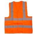 Orange reflective vest ii over white background Stock Photography
