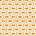 Orange Retro Wallpaper Royalty Free Stock Photo
