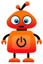 Orange robot Royalty Free Stock Photo