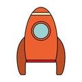 orange rocket space travel Royalty Free Stock Photo