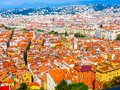 Aerial view of the Nice, France Royalty Free Stock Photo