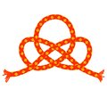 Orange rope shape knot vector background design Royalty Free Stock Photos