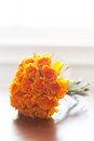 Orange roses wedding bouquet no people Royalty Free Stock Images